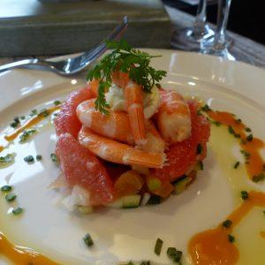 salade crevettes pamplemousse