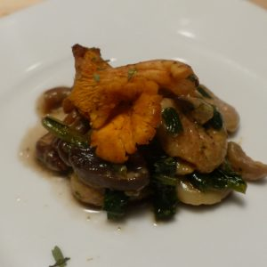 Poêlée Ardéchoise(châtaignes,épinards,champignon)